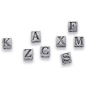 4mm sterling silver letter beads