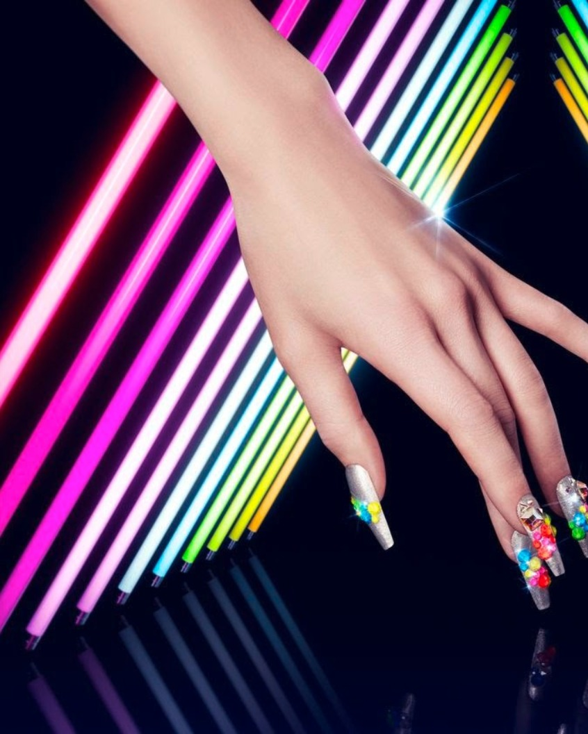 ddd92fbe8be The new Swarovski Crystal Electric Lacquer Pro color family brings powerful  neon colors to the Swarovski crystal collection.