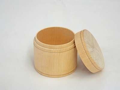 Round Unfinished Wood Trinket Box Jumbo 2 13 16 X 2 1 4